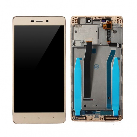 LCD + dotyk + rámeček pro Xiaomi Redmi 3S, gold OEM