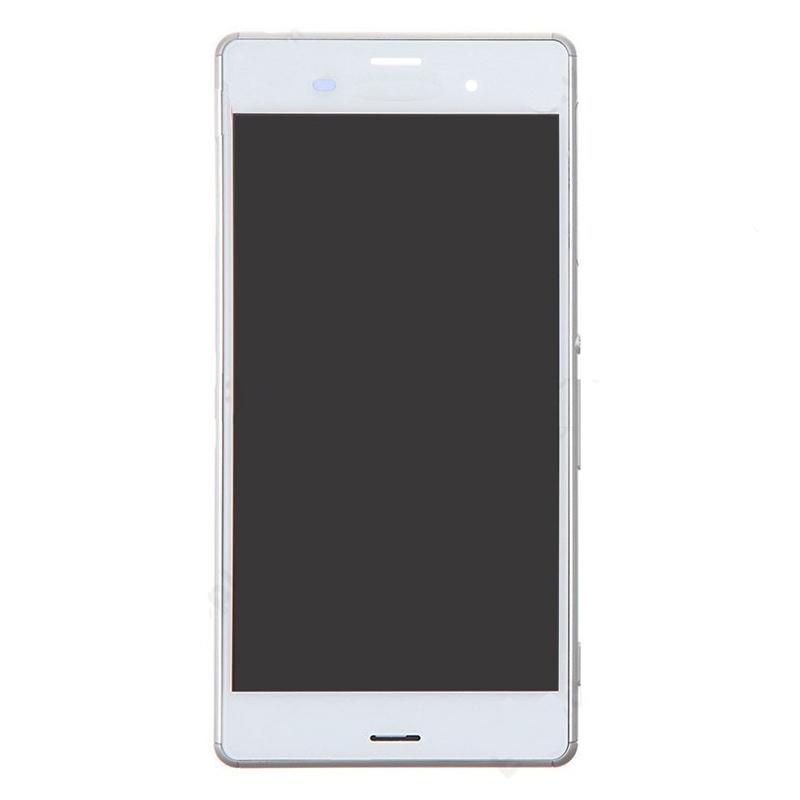 LCD + dotyk + rámeček pro Sony Xperia E5, white