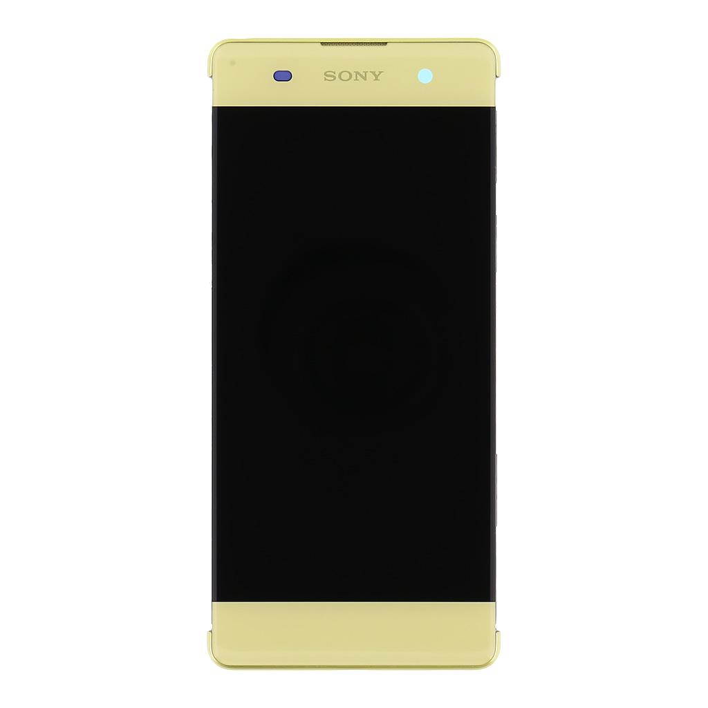 LCD + dotyk + rámeček pro Sony Xperia XA , lime gold