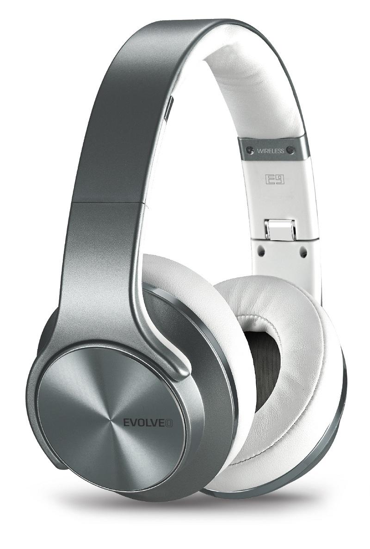 EVOLVEO SupremeSound E9 Bluetooth sluchátka a reproduktory 2v1 stříbrná