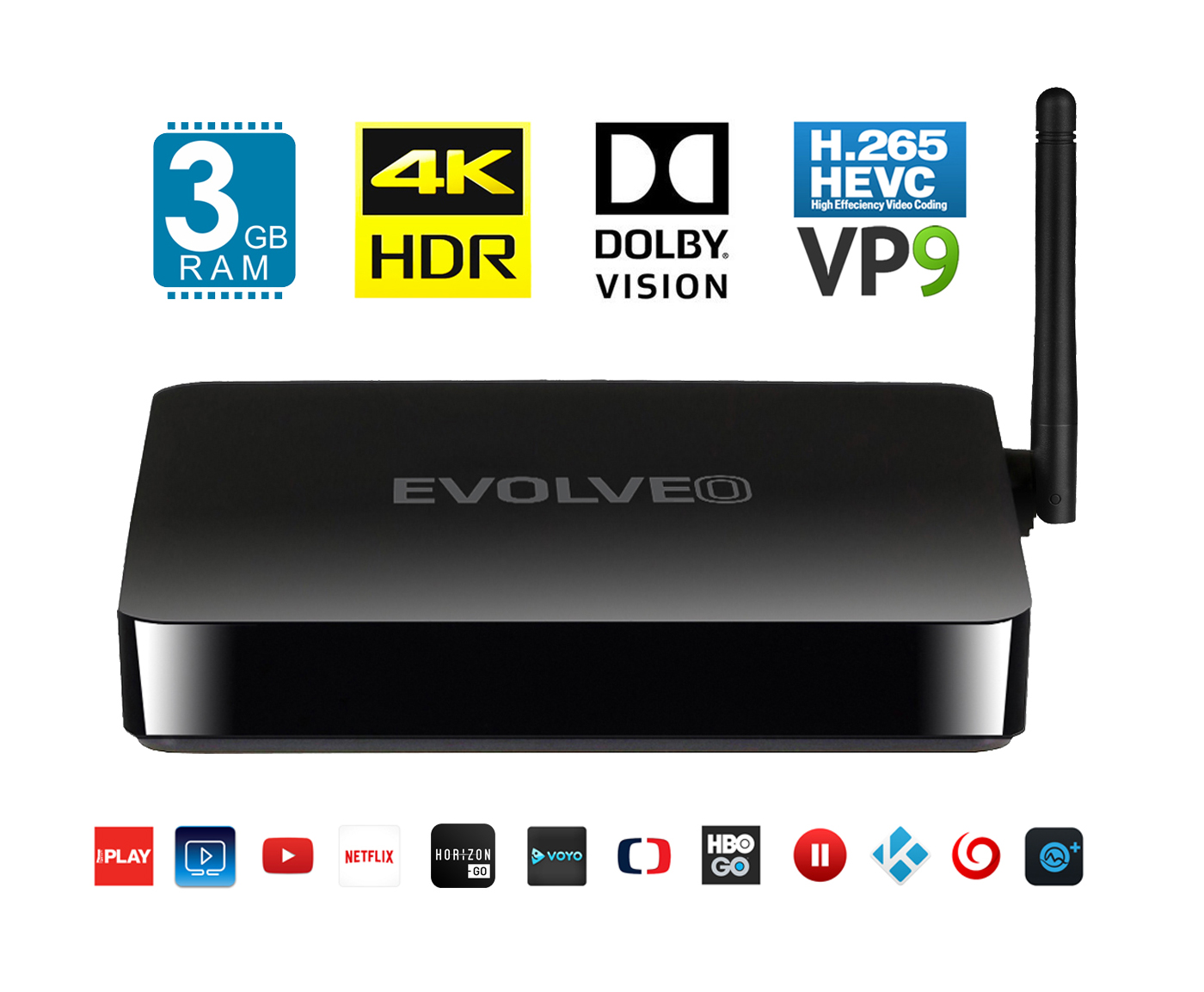 EVOLVEO MultiMedia Box M8 multimediální centrum