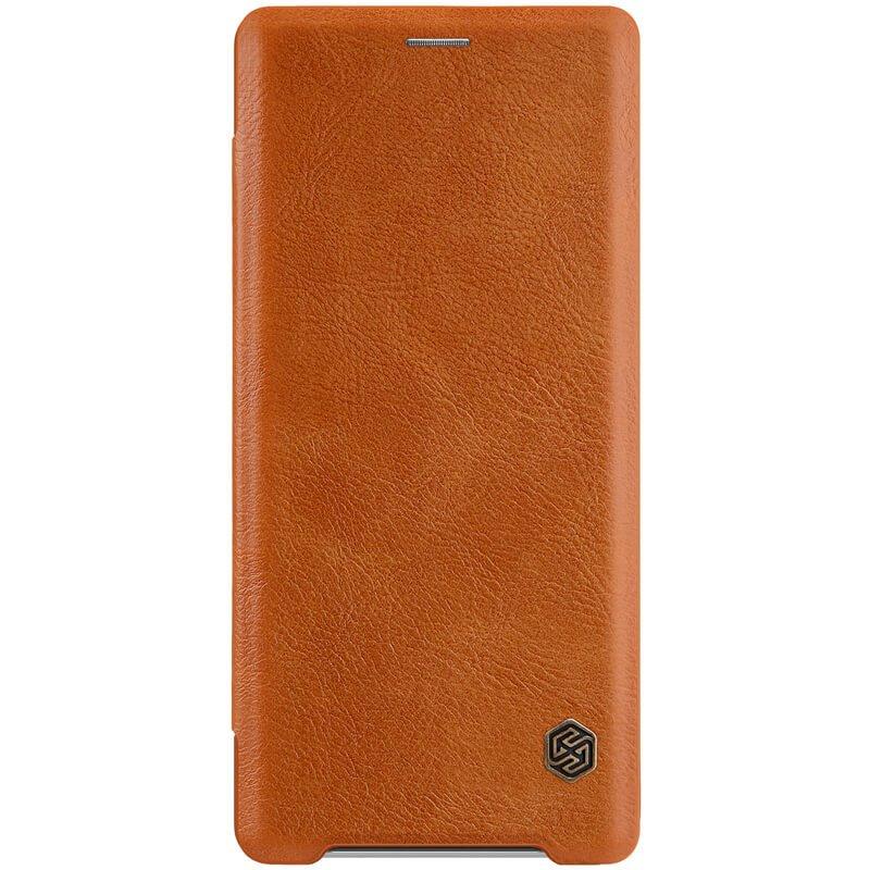 Flipové pouzdro Nillkin Qin pro Sony Xperia XZ3, brown
