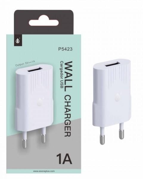 Nabíječka PLUS P5423 s USB výstupem 5V/1A, white