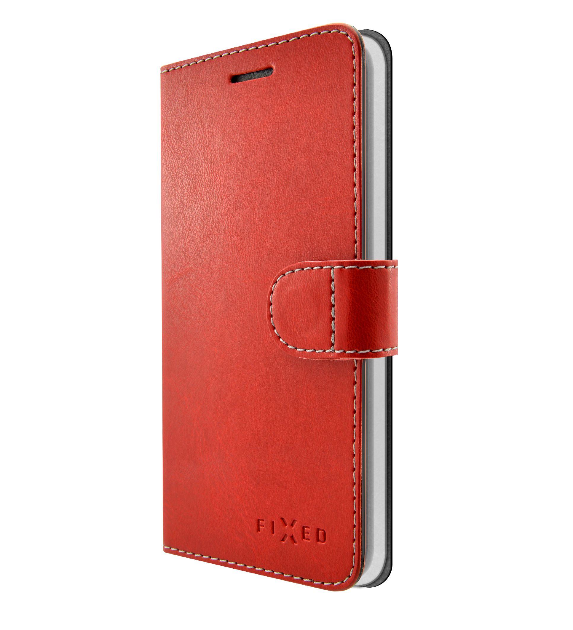 FIXED FIT flipové pouzdro pro Apple iPhone XS Max, red