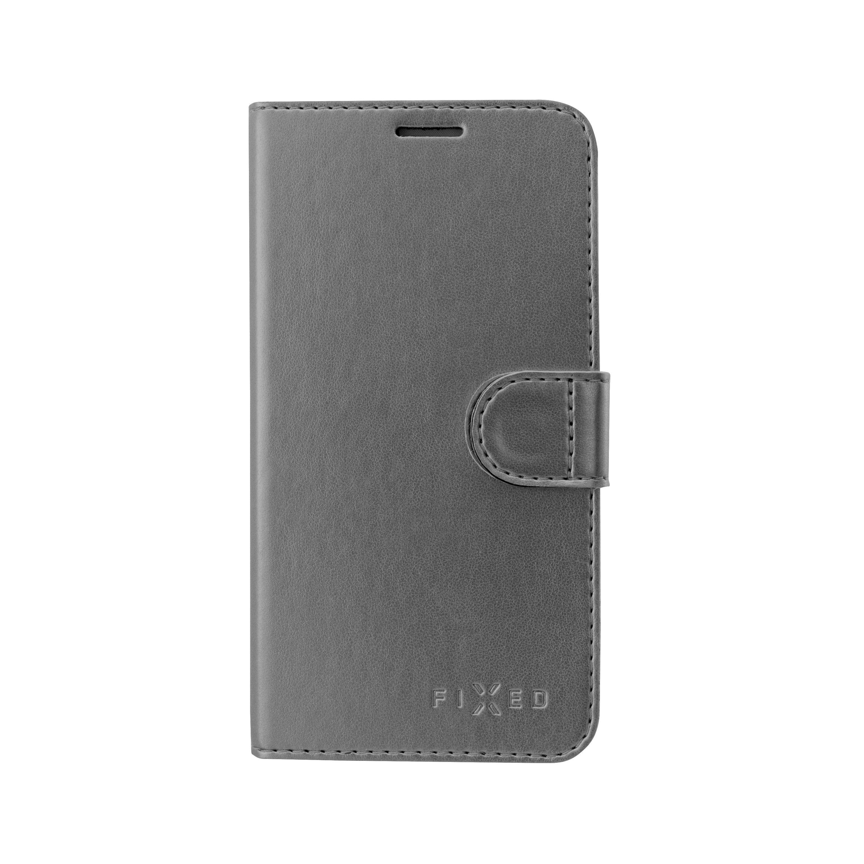 FIXED FIT Shine flipové pouzdro pro Samsung Galaxy J6, antracitové