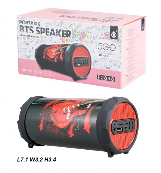 Bluetooth reproduktor Portable Speaker PLUS Mini F2848, Red Guitar