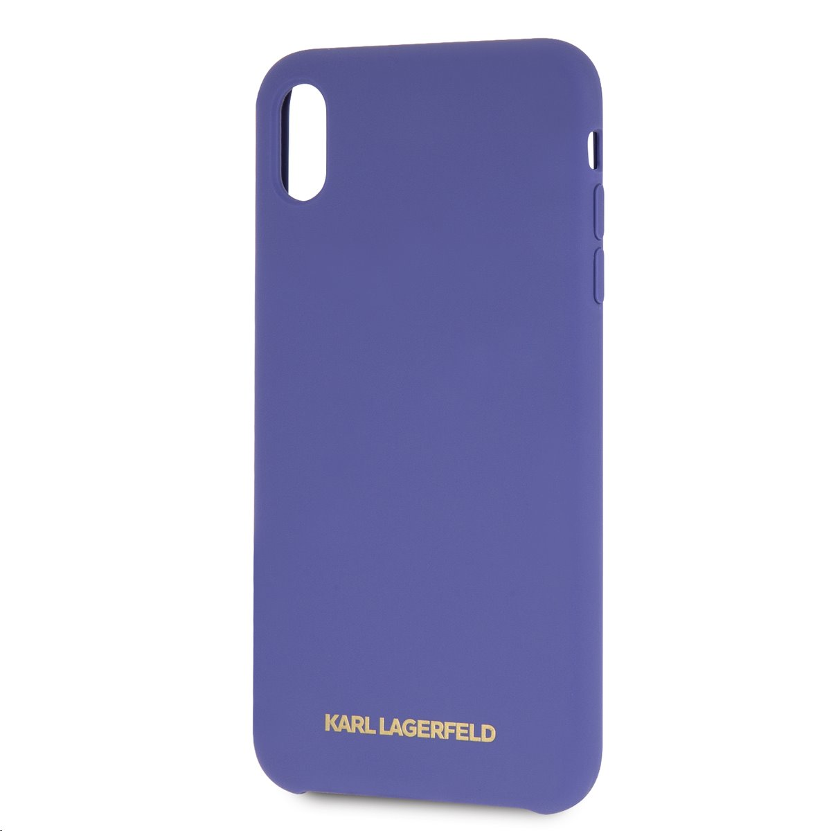 Silikonové pouzdro Karl Lagerfeld Gold Logo Silicone Case iPhone XS Max,violet