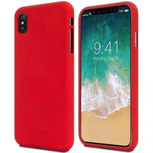 Pouzdro Mercury Soft feeling Huawei Huawei P Smart Plus/Nova 3i , red