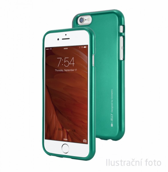 Pouzdro Mercury Goospery iJelly Metal na iPhone 7 Plus, Green