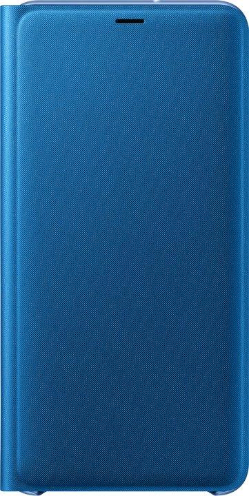 Flipové pouzdro Samsung Wallet Case pro Galaxy A7 2018 (A750) modrá
