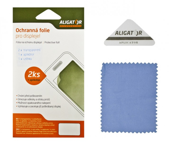 Ochranná fólie ALIGATOR na Aligator S4030 Duo, 2ks + aplikátor