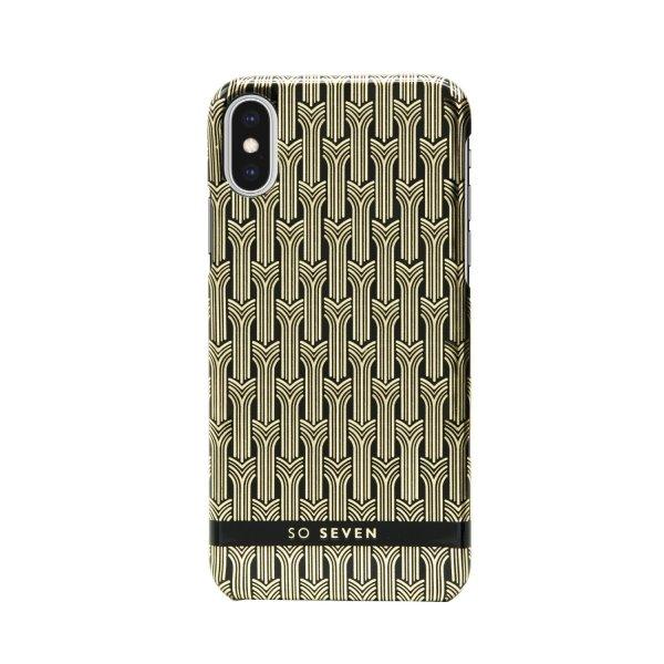 Zadní kryt SoSeven Fashion Paris Cover pro Apple iPhone X/XS, Black/Gold