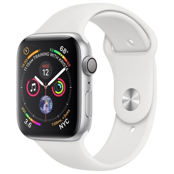 80acd204a Hodinky Apple Watch Series 4 40mm Silver Aluminium - bílý sportovní pásek