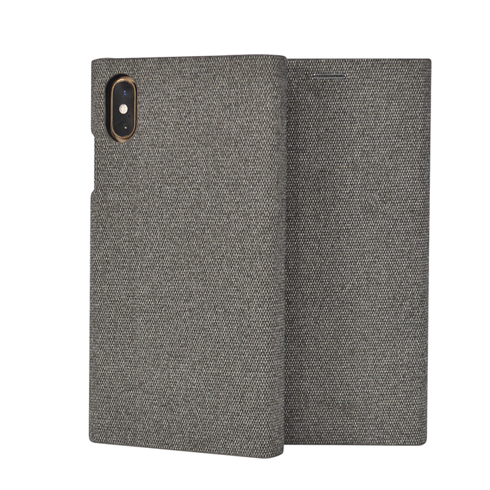 Pouzdro SoSeven Premium Gentleman Book Case Fabric pro iPhone X/XS, Grey