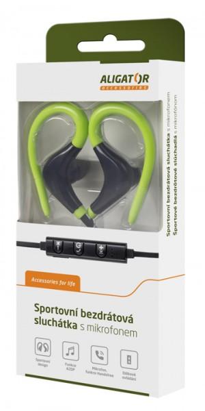 bezdrátová sluchátka FR301X s mikrofonem, černo/zelená