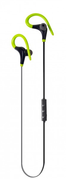 ALIGATOR sportovní bezdrátová sluchátka FR301X s mikrofonem, černo/zelená