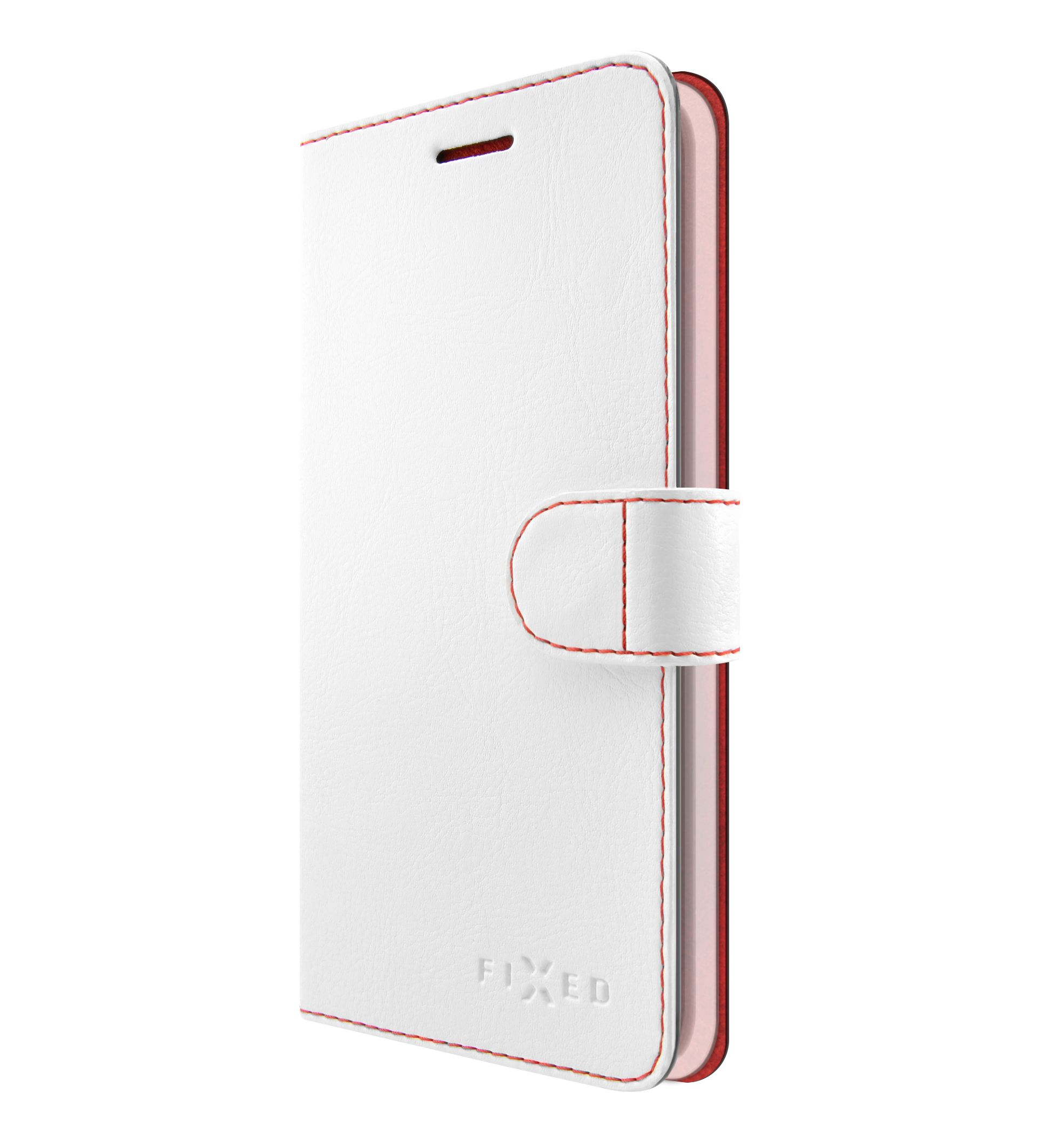 Flipové pouzdro Fixed FIT pro Samsung Galaxy J4+, bílé