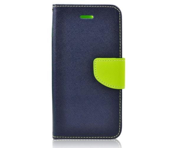 Flipové pouzdro Fancy Diary pro Huawei P smart 2019, modro-limetková (BULK)