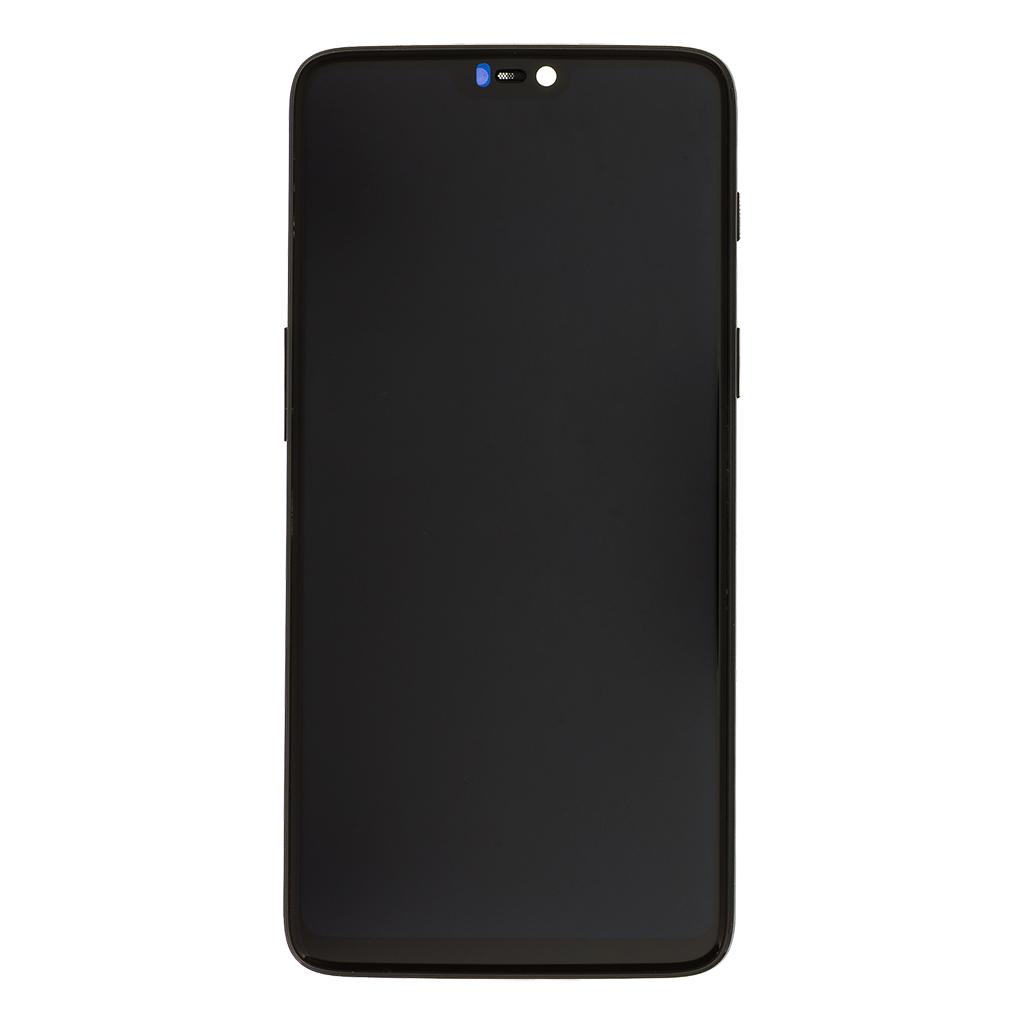 LCD + dotyk + přední kryt pro OnePlus 6, black