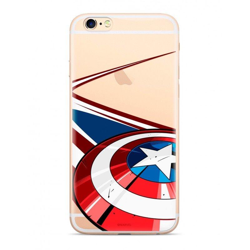 Zadní kryt Marvel Captain America 008 pro Samsung Galaxy S10, transparent