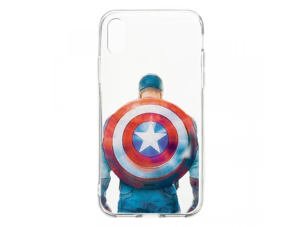 Zadní kryt Marvel Captain America 002 pro Samsung Galaxy J6+, transparent