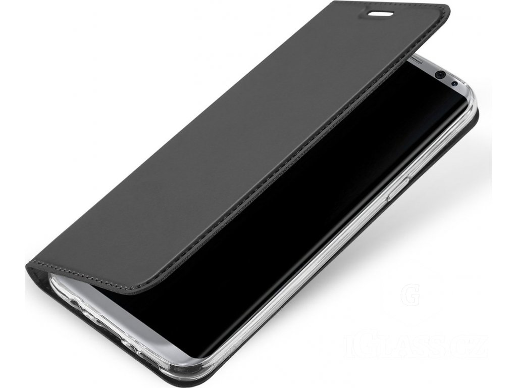 Flipové pouzdro Dux Ducis Skin pro Samsung Galaxy S10e, šedá