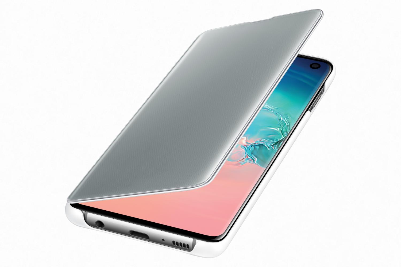 Flipové pouzdro Clear View Cover pro Samsung Galaxy S10, bílá