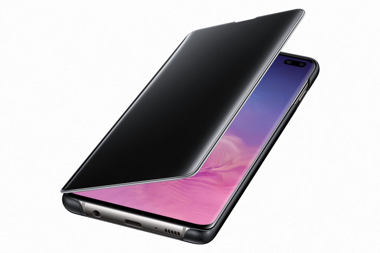Flipové pouzdro Clear View Cover pro Samsung Galaxy S10+, černá
