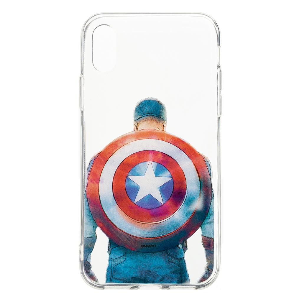 Zadní kryt Marvel Captain America 002 pro Apple iPhone X, transparent