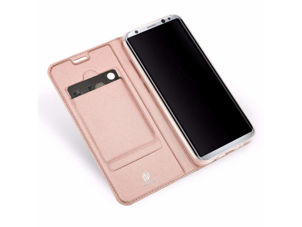 Flipové pouzdro Dux Ducis Skin pro Samsung Galaxy A7 2018, růžová
