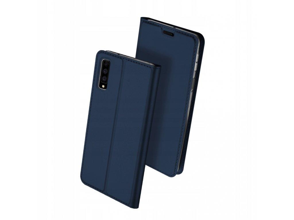 Flipové pouzdro Dux Ducis Skin pro Samsung Galaxy A7 2018, modrá