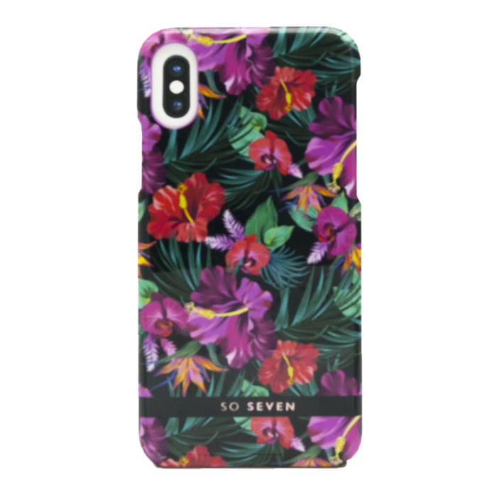 Zadní kryt SoSeven Fashion Paris Tropical pro Apple iPhone X/XS, Black
