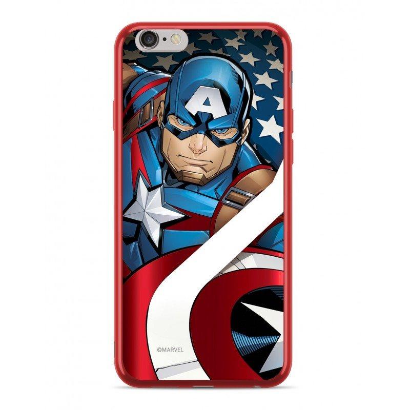 Zadní kryt Marvel Captain America 004 pro Apple iPhone XS Max, red