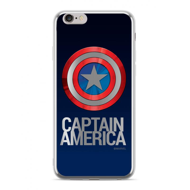 Zadní kryt Marvel Captain America 001 pro Apple iPhone 6/6S Plus, silver