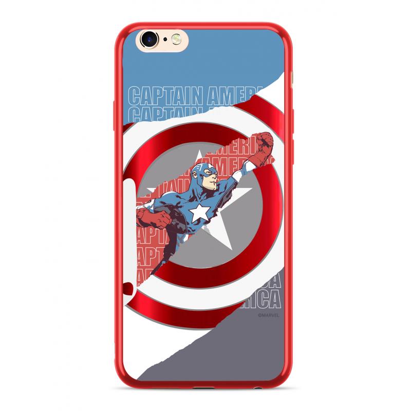 Zadní kryt Marvel Captain America 013 pro Apple iPhone XS Max, red