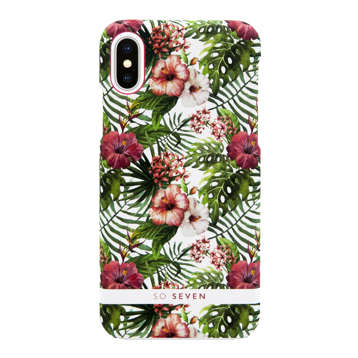 Zadní kryt SoSeven Fashion Rio Hibiscus pro Apple iPhone X/XS, Pink