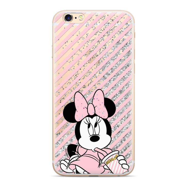Zadni kryt Disney Minnie 017 pro Apple iPhone X, silver glitter
