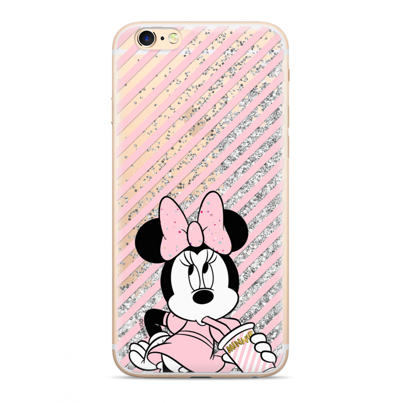 Zadni kryt Disney Minnie 017 pro Apple iPhone 7/8, silver glitter
