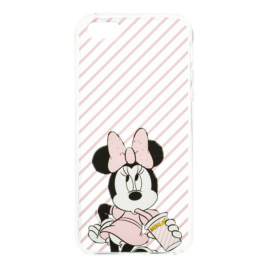 Zadni kryt Disney Minnie 017 pro Apple iPhone 5/5S/SE, transparent
