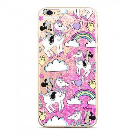 Zadni kryt Disney Minnie 037 pro Apple iPhone 5/5S/SE, pink glitter