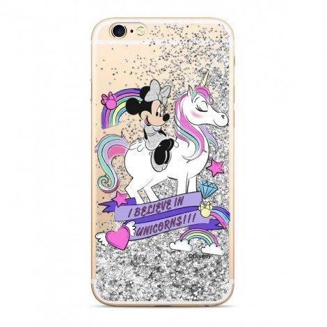 Zadni kryt Disney Mickey 035 pro Apple iPhone 6/6S, silver glitter