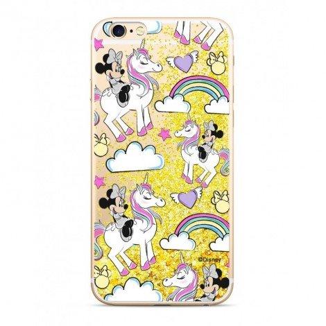 Zadni kryt Disney Minnie 037 pro Apple iPhone 7/8, gold glitter