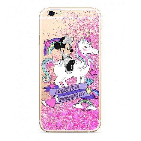 Zadni kryt Disney Minnie 035 pro Apple iPhone 6/6S, pink glitter