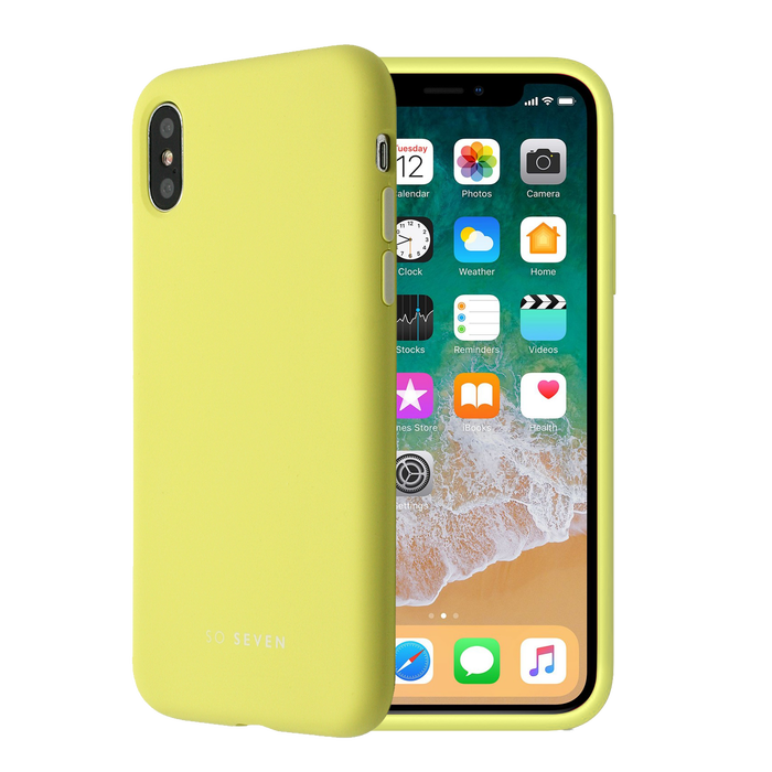 Zadní kryt SoSeven Smoothie pro Apple iPhone X/XS, Yellow