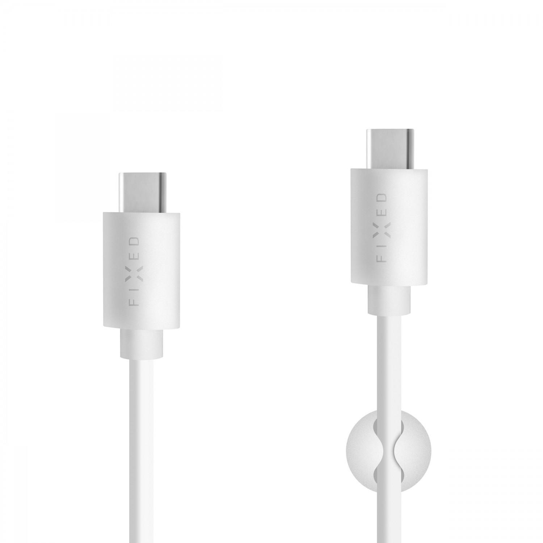 Dlouhý datový a nabíjecí USB-C kabel FIXED s konektorem USB-C, USB 2.0, 2 metry, 15W, White