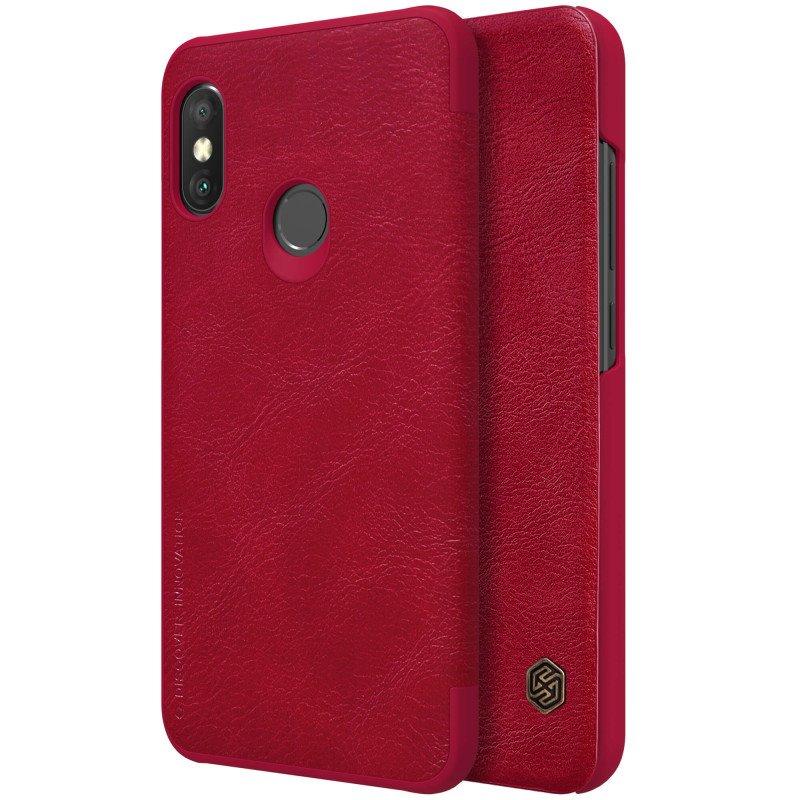 Flipové pouzdro Nillkin Qin Book pro Xiaomi Mi 9 SE, red