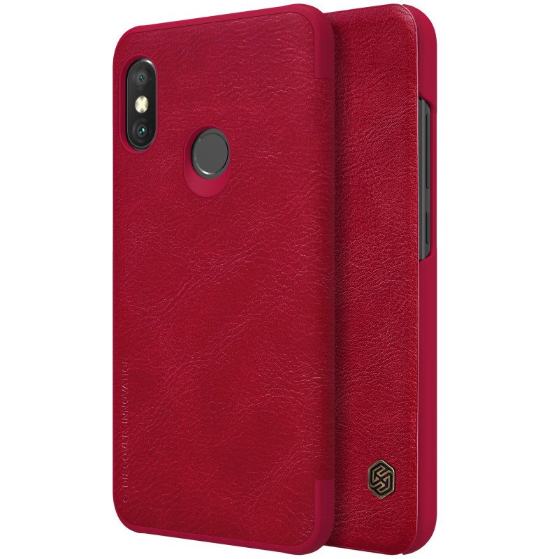 Flipové pouzdro Nillkin Qin Book pro Samsung Galaxy A50, red
