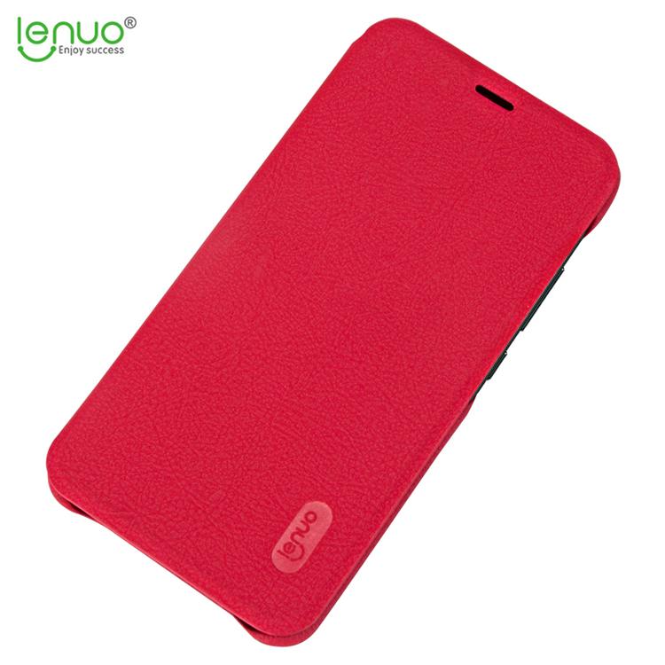 Flipové pouzdro Lenuo Ledream pro Huawei Y6 Prime (2018), Red