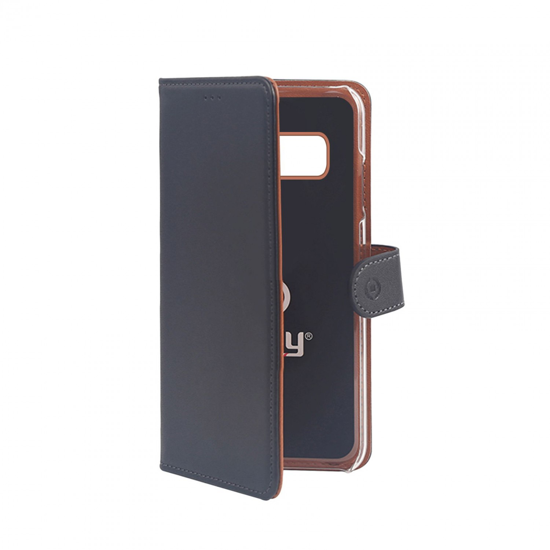Pouzdro typu kniha CELLY Wally pro Samsung Galaxy S10e, PU kůže, černé