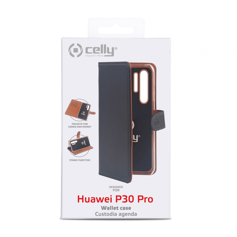 CELLY Wally flipové pouzdro pro Huawei P30 Pro, černé
